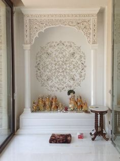 pooja room in living room - Google Search