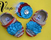 Vintage Style Baby Shoes with Hair Flower (Sovilia Shoes) By LaValya on Etsy. $48.00, via Etsy.