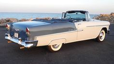 1955 Chevy Bel Air convertible.  Like the fender skirt, always added a nice long, lower profile look.