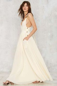Nasty Gal Start Overall Maxi Dress