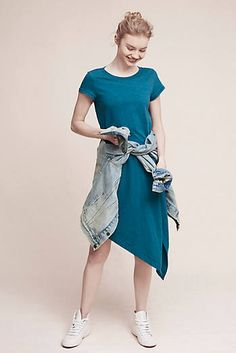 Cecily T-Shirt Dress, Turquoise