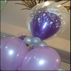 Wedding Balloons in silver lavender and purple