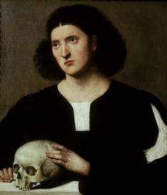 Bernardino Licinio Portrait of a young Man with a Skull - The Largest Art reproductions Center In Our website. Low Wholesale Prices Great Pricing Quality Hand paintings for saleBernardino Licinio