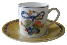 Limoges Borghese Cup and Saucer  -  ($195.00)  $95.00  -  OneKingsLane.com