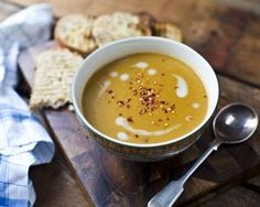 Squash, coconut and chilli soup recipe