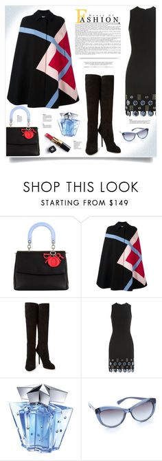 """""""Argyle Fashion"""" by kiki-bi ❤ liked on Polyvore featuring Christian Dior, MSGM, Sergio Rossi, David Koma, Chanel, Thierry Mugler and Tory Burch"""