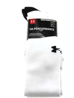 Under Armour Men's All Sport Performance Over-the-Calf Socks White/Black Large #Underarmour #OVERTHECALF