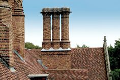 Meadow Brook Hall's chimneys are arranged in 14 groupings - all unique.