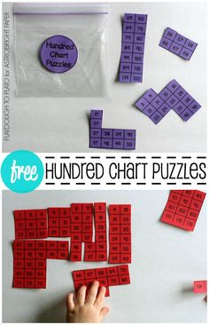 FREE Hundred Chart Puzzles. Awesome way to practice skip counting, counting on, more and less... lots of math skills!!