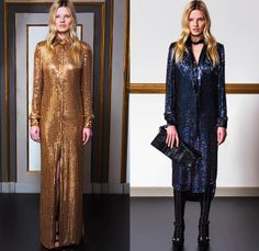 Emilio Pucci 2014 Pre Fall Womens Lookbook Presentation - Pre Autumn Collection Looks - Ethnic Folk Ornamental Print Tribal Print Pattern Tunicdress Shirtdress Thigh High Boots Furry Outerwear Overcoat Dress Cocktail Jacket Tuxedo Stripe Cargo Pockets Suspenders Dungarees Jumpsuit Robe Poncho Renaissance Sequins