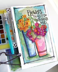 my dear sweet friend and art buddy martha lever  paints the most fabulous little free-form flowers......i'd love to have an entire gard...