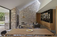 Let there be light: Skylight House Brick Interior, Interior Walls, Residential Architecture, Architecture Design, Be Light, Light Well, Plywood Design, Brick Cladding, Concrete Interiors