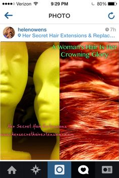 A Woman's Hair Is Her Crowning Glory.