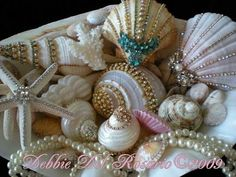 Victoria Rose Cottage: Breathtaking Jeweled Shells - Beach Cottage Shimmer Collection