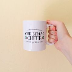 This Mug is Full of Christmas Cheer (And A Lot Of Booze) Holiday Coffee Mug // Brittany Garner Design