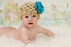 Baby Girl Hat - Crochet