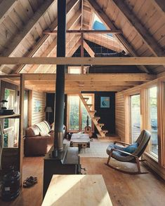 38 Affordable DIY Tiny House Remodel Ideas to Copy Right Now ~ kliksaya. Tiny House Cabin, Tiny House Living, Tiny House Design, Cabin Homes, Small Cabin Designs, Off Grid Tiny House, A Frame Cabin, A Frame House, Tiny House Movement