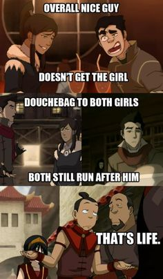 I think it's sweet how Bolin backs off and respects Korra's decision.