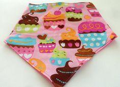 Cupcake Baby Bib  Cupcake Baby Bibdana  Cotton by SweetSewingByJen