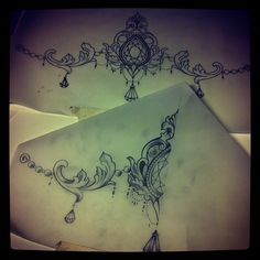 I love this delicate intricate design. maybe for a garter tattoo piece