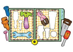 Have fun learning and recognizing different shapes corresponding to each tool in…