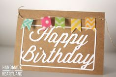 DIY Washi Tape Birthday Cards. Easy, Fast, Cute and Handmade! www.handmadeintheheartland.com