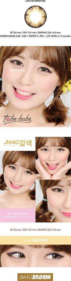 JM 40 Brown – Korean Color Contact Lens