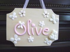 Items similar to Personalized Kids Name Sign Kids Name Sign Nursery Wall Hanging Custom Name Sign Baby Name Sign Door Hanger Kids Gift ideas Made-to-Order on Etsy Vinyl Crafts, Clay Crafts, Diy And Crafts, Fun Crafts, Nursery Signs, Nursery Decor, Kids Door Signs, Baby Name Signs, Polymer Clay Miniatures