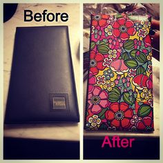 decorated my server book with scrapbook paper! mayleen mincher