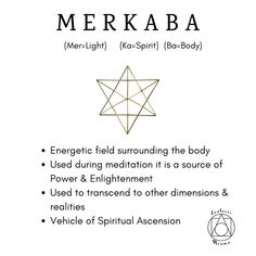 Merkaba This sacred symbol is incredibly powerful and wonderful to use during meditation