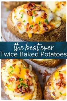 Frugal Food Items - How To Prepare Dinner And Luxuriate In Delightful Meals Without Having Shelling Out A Fortune This Is The Best Twice Baked Potatoes Recipe And I'm Going To Tell You Exactly How To Make It. This Creamy, Cheesy, Crispy Twice Baked Potato Double Baked Potatoes, Best Twice Baked Potatoes, Stuffed Baked Potatoes, Crack Potatoes, Twice Baked Potatoe Recipe, Loaded Baked Potatoes, Twice Baked Potato Casserole, Hot Potato Recipe, Double Stuffed Potatoes
