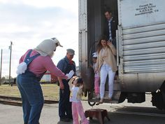 The Easter Bunny Express is a hit! High fives all around! The event continues tomorrow and next Friday and Saturday, April 3rd and 4th. A big finish is planned with lots of extras April 4th, including an Easter Egg hunt and steam engine caboose train rides. Click here for more: http://nctrans.org/Events/Easter-Bunny-Express.aspx
