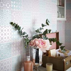 Exclusive to Topps Tiles, these beautiful pastel decorative tiles are perfect for adding a touch of style to an interior whilst still being beautifully subtle.