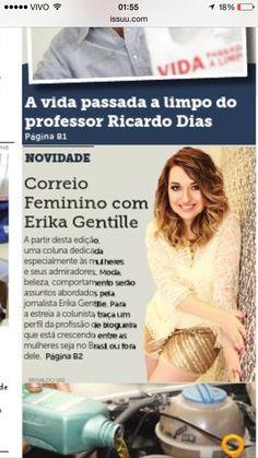 Erika Gentille na Capa do Jornal Correio Paulista, 2014.