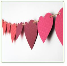 #heart paper #bunting