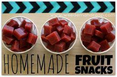 Homemade Fruit Snacks 4 c. strawberries 1/2 c. lemon juice 8 TBS. honey 1/4 tsp. salt 1/2 tsp. vanilla 6 TBS. gelatin