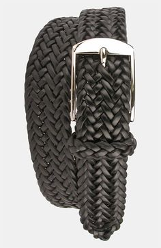 Martin Dingman 'Loran' Braided Saddle Leather Belt available at #Nordstrom