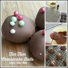 Tim Tam Cheesecake Balls Collage