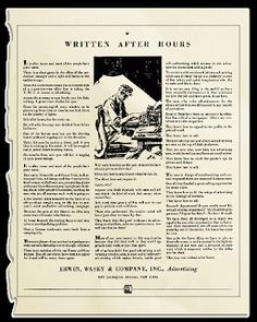 Written After Hours - The Best Piece of Ad Copy Ever Written Copy Ads, Swipe File, After Hours, Direct Marketing, Creative Advertising, Writing Skills, Copywriting, Print Ads, Improve Yourself