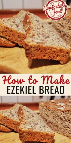 Low Unwanted Fat Cooking For Weightloss Ezekiel Bread Recipe. Shockingly Enough I Found It To Be Delicious. It Wasn't As Dry Or Hard As I Expected To Be, And Toasted With Some Butter And Jam It Actually Made For An Excellent Healthy Bread Recipes, Fudge Recipes, Whole Food Recipes, Healthy Homemade Bread, Homemade Breads, Keto Diet Breakfast, Breakfast Recipes, Breakfast Ideas, Ezekiel Bread Recipe Easy