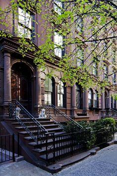 Suburban street, New York.