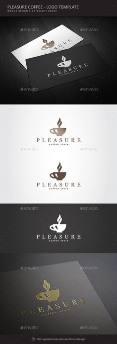Pleasure Coffee Logo Design Template Vector #logotype Download it here: http://graphicriver.net/item/pleasure-coffee-logo/1925754?s_rank=83?ref=nexion