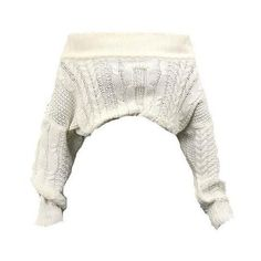Cable Knit Off Shoulder Sweatshirt White Outfits, Cute Casual Outfits, Cropped White Shirt, White Shirts, Shoulder Shirts, Shoulder Tops, Shoulder Cable, Cute Crop Tops, Looks Chic