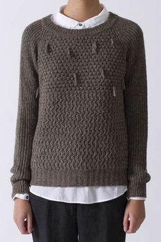 Pomandere Wool Fringe Sweater