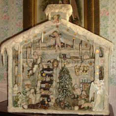 Antique German cotton Christmas decor