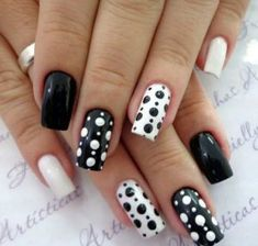 Want to try black acrylic nails but never knew what you wanted! We have put together a quick list of our favorite black acrylic nail designs to get your imagination going! Black Nail Designs, Acrylic Nail Designs, Nail Art Designs, Nails Design, Black Acrylic Nails, Black Nails, Polka Dot Nails, Polka Dots, Dot Nail Art