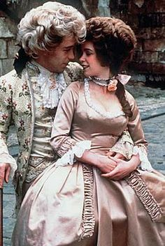 Mozart (Tom Hulce), Constanze (Elizabeth Berridge) in Amadeus.Tom Hulce was incredibly good especially with his laughter as Mozart's Tom Hulce, Period Costumes, Movie Costumes, Great Films, Good Movies, Amadeus Mozart, I Love Cinema, Rock And Roll, Moving Pictures