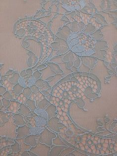 Light mint lace fabric, Gorgeous chantilly lace fabric  Symmetrical embroidery floral pattern, with lovely flowers. Soft and romantic. Perfect for