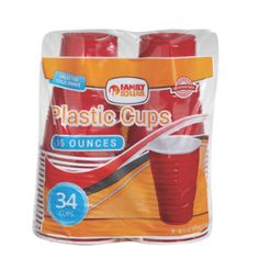Family Dollar Plastic Cups Red