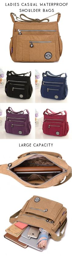 US$21.99+Free shipping.  Ladies Shoulder Bags, Waterproof Bags, Crossbody Bags. Travel, Outdoor, Casual, Material: Nylon, A variety of colors for your choice.